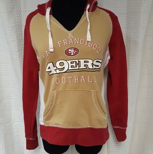 NFL pull-over hoodie, San Francisco 49ers, size M
